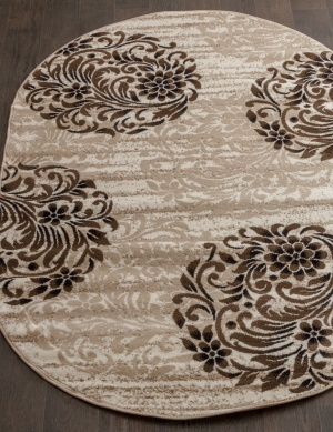 Ковер d303-cream-brown-ov